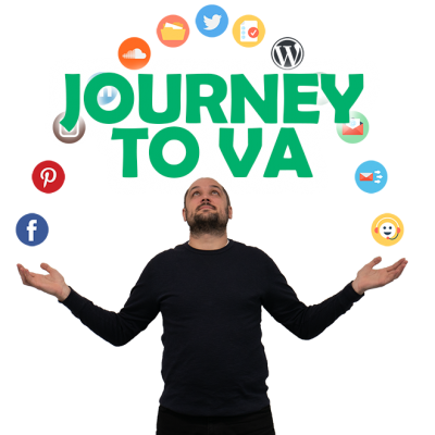 Journey to VA Podcast Cover Image - Transparent Background